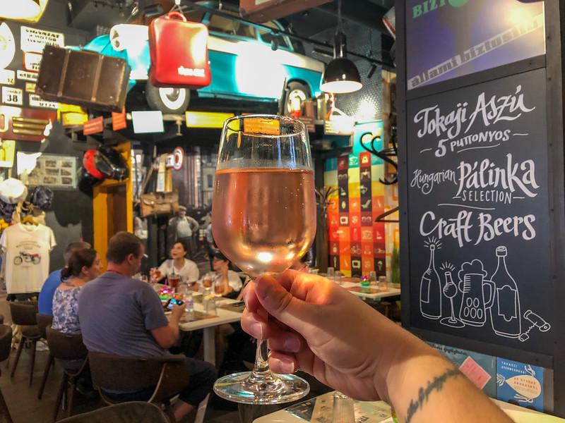 Wine spritzer in Budapest