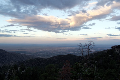 Sandia Mountains (August 24, 2013)