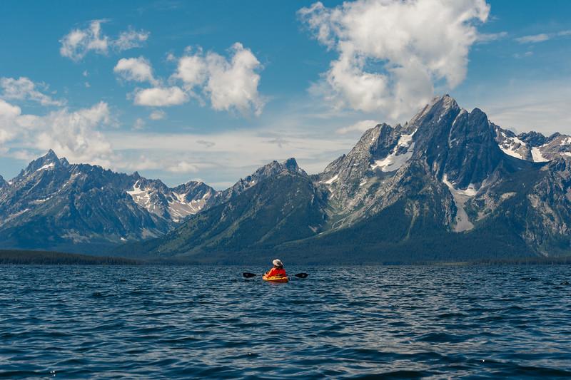 KayakingJackson Lake, Grand Teton National Park, Wyoming