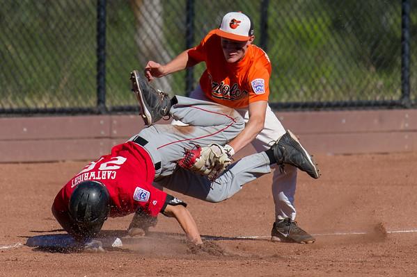 Roseville West Little League Jr. Angels vs Divide Orioles 6-19-16 TOC