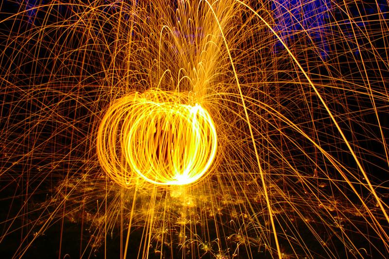 Fun with burning steel wool