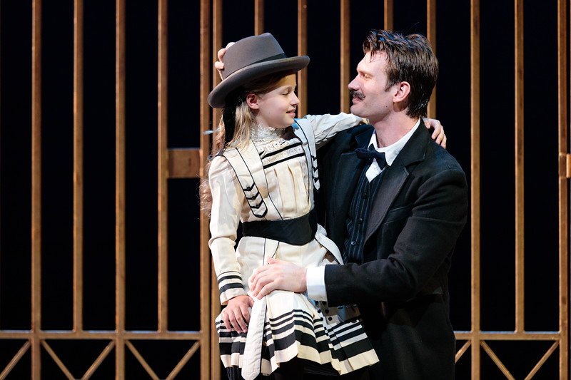 """Bella Crowe as Kim and Michael Adams as Gaylord Ravenal in The Glimmerglass Festival's 2019 production of """"Show Boat."""" Photo Credit: Karli Cadel/The Glimmerglass Festival"""