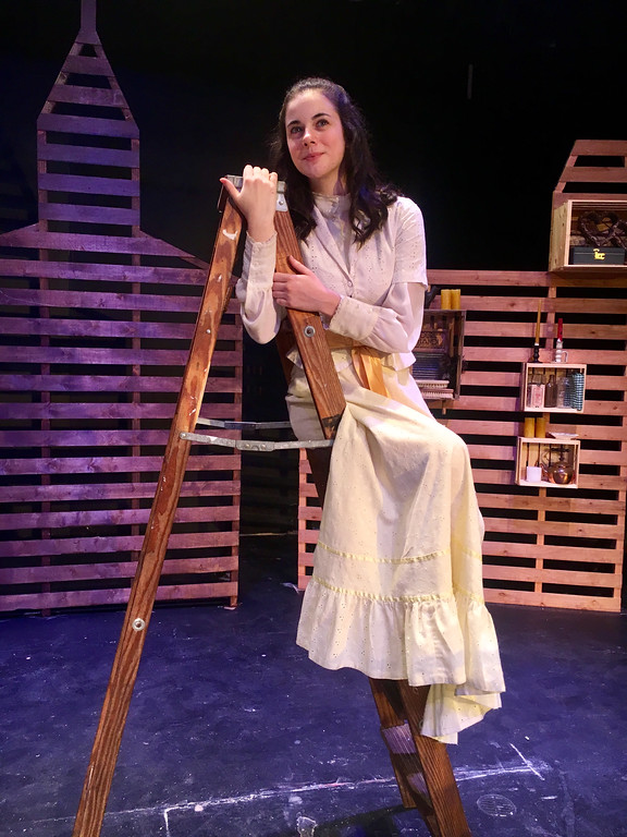". Callie Schaden is Emily Webb in the ninth annual Drama Project\'s production of Thorntown Wilder\'s ""Our Town\"" at Geauga Lyric Theater. The show is June 1-3, and tickets are $6-8 at www.geaugatheater.org or 440-286-2255. (Submitted)"