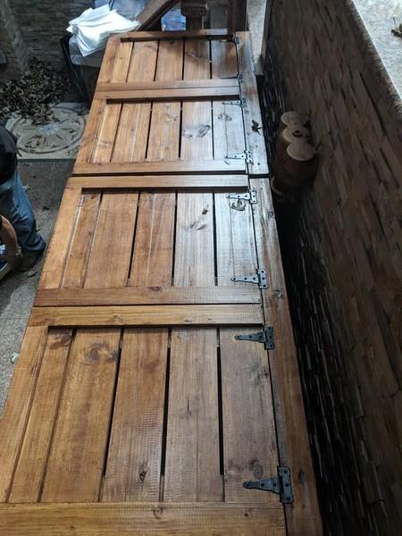 Custom wooden trash enclosures
