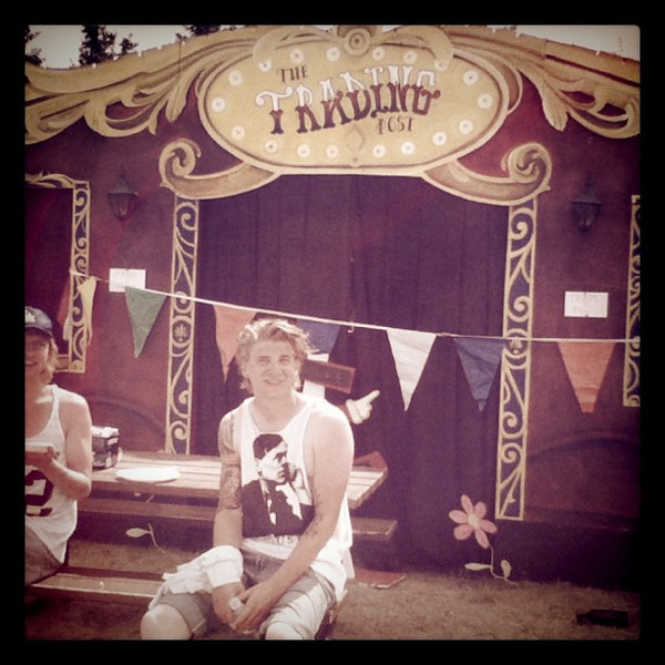 Trading post at Winnipeg Folk Festival