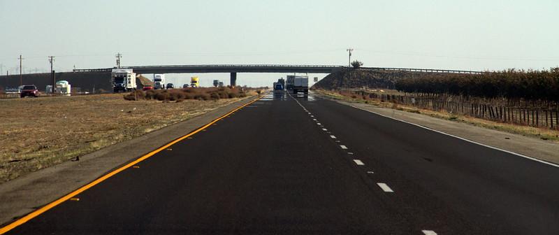 Heat mirage on I-5