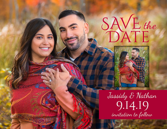 Jassidy and Nathan Save the Dates