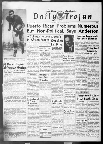 Daily Trojan, Vol. 45, No. 85, March 03, 1954