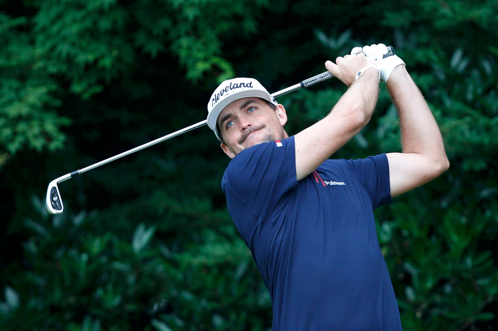 . Keegan Bradley of the U.S. tees off on the 11th hole during the first round of the 2013 U.S. Open golf championship at the Merion Golf Club in Ardmore, Pennsylvania, June 13, 2013. REUTERS/Matt Sullivan