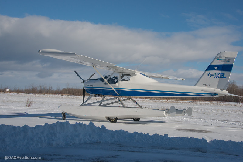 Collingwood Airport Winter Snow Tecnam p92 Echo CIKEL (2 of 6).jpg