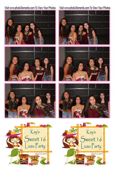 Kay's Sweet 16 Luau Party 4-15-16