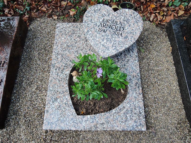 Urnengrab mit Pflanzausschnitt