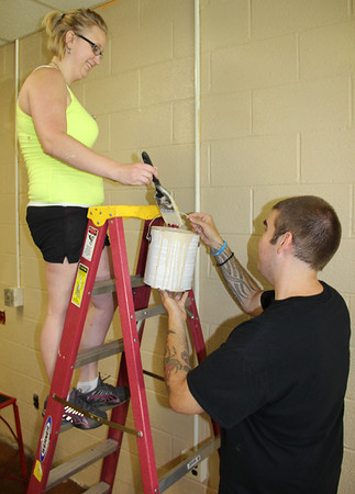 WalMart Employees Helping, Painting Elementary School, Tamaqua (6-25-2013)