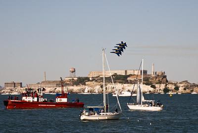 Quadruple Whopper formation over Alcatraz.