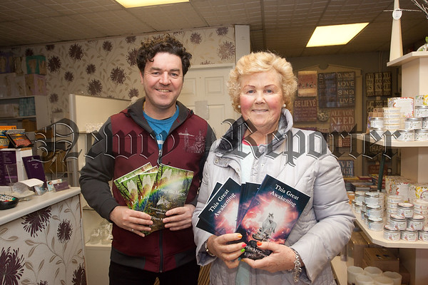 "Author Eileen McCourt is pictured with Shane McParland at the launch of her latest book ""This Great awakening"". R1549048"