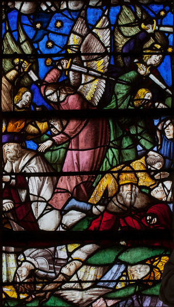 Chaource, Eglise Saint-Jean-Baptiste - The Arcangel Michael Slaying a Sinner