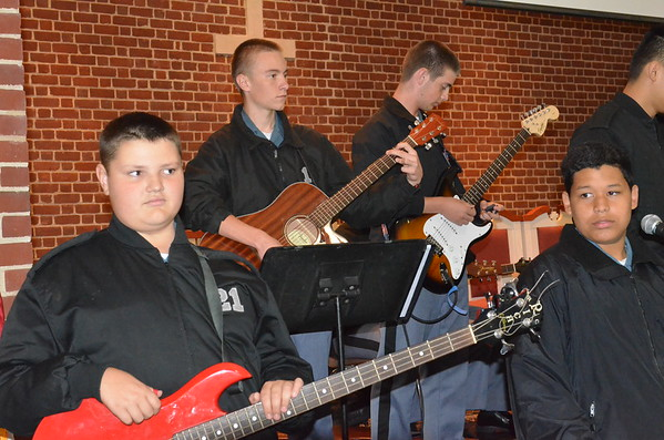 Praise Band During Chapel