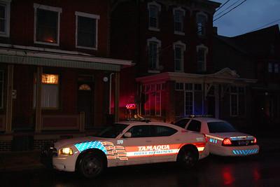 Police Presence, Pine St, Tamaqua (2-18-2012)