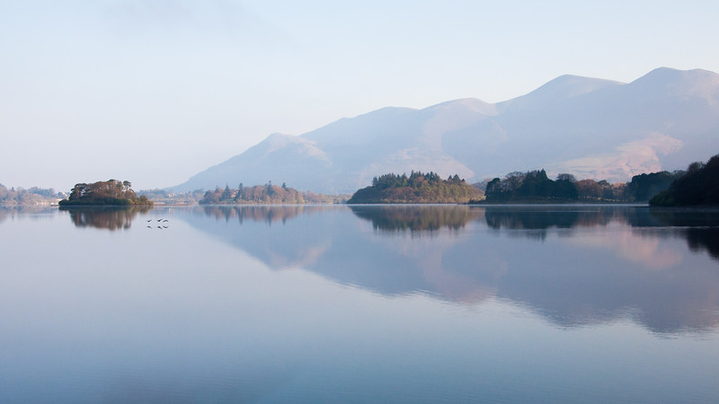Skiddaw reflected in Derwent Water