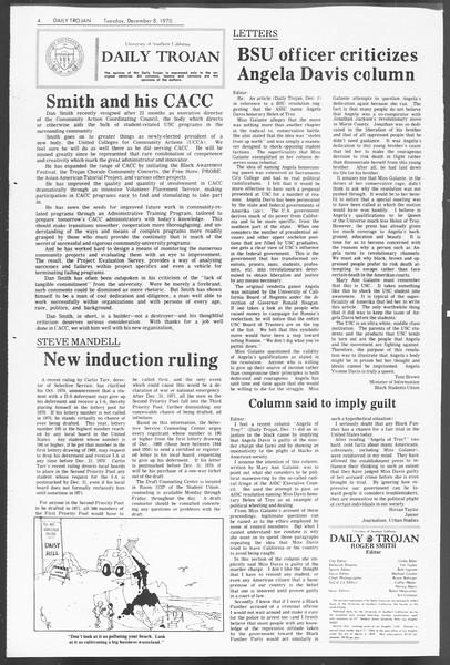 Daily Trojan, Vol. 62, No. 50, December 08, 1970