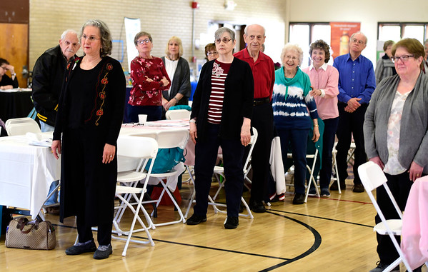 5/2/2019 Mike Orazzi | Staff Seniors during the CTridads program held at the Bristol Senior Center on Thursday morning.