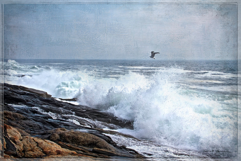 Surf at Pemaquid Point, September 3, 2010