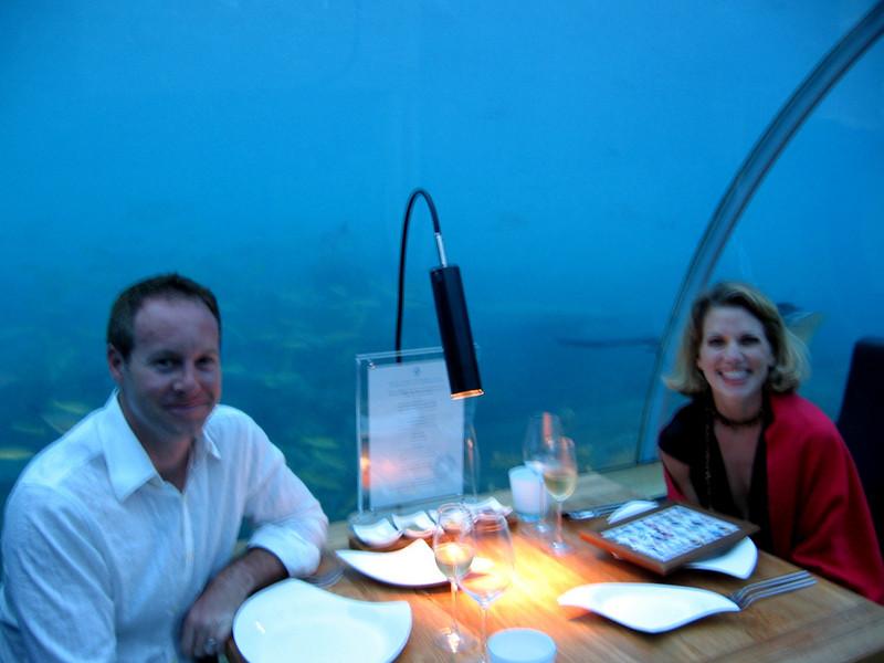 Audra & Matt before dining under the sea