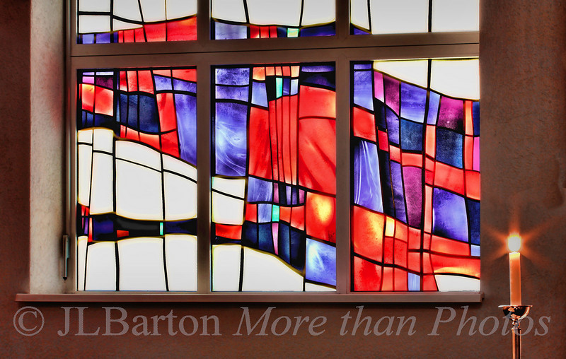 Windows of Flames Church Window of the United Methodist Church in Vienna Austria