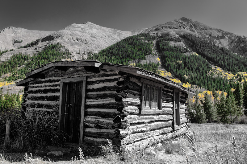 Miners Cabin in the Mountains