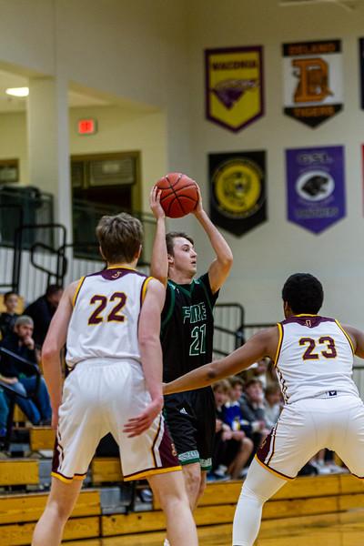 Holy Family Varsity Boys Basketball vs. Jordan, 1/23/20: Blake Stedronsky '20 (21)