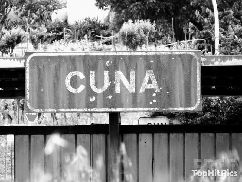 The Cuna Village Sign in Cuna, Tuscany, Italy