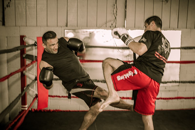 Kickboxing sparring session, Triton MMA