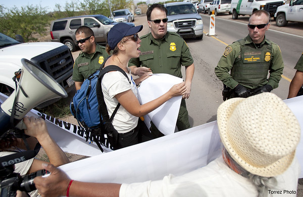 Arivaca, Day of Action calling for demilitarization.