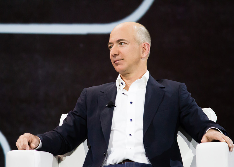 Jeff Bezos, Founder and CEO of Amazon.com during his fireside chat with Werner Vogels at re:Invent 2012