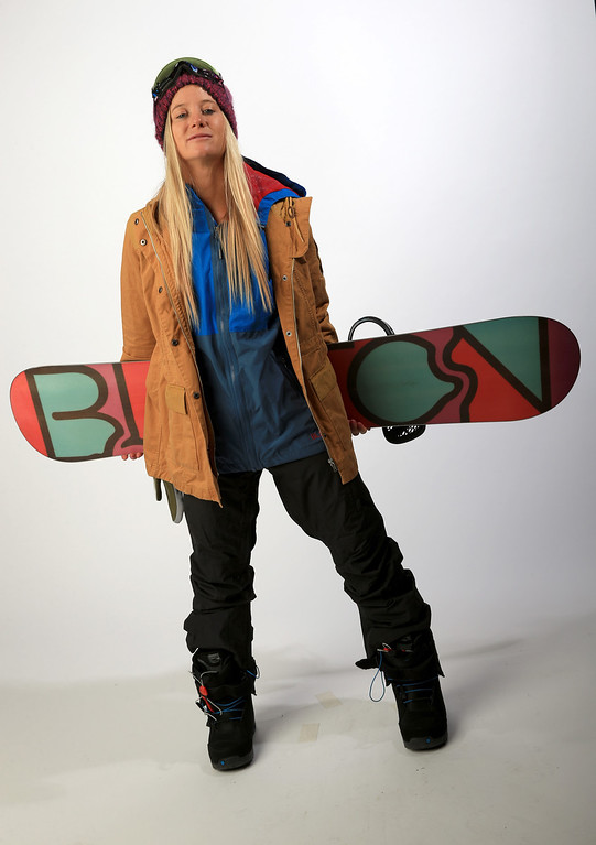 . Snowboarder Hannah Teter poses for a portrait during the USOC Media Summit ahead of the Sochi 2014 Winter Olympics on October 2, 2013 in Park City, Utah.  (Photo by Doug Pensinger/Getty Images)