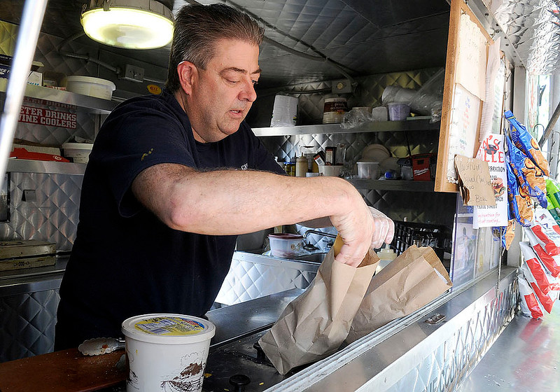 10/5/2012 Mike Orazzi | Staff Ken Meehan of Ken's Grille on North Main Street in Bristol on Friday afternoon.  ** for a Steve story ***