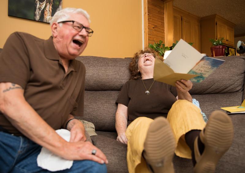 Mam and Badge laughing at Card.jpg