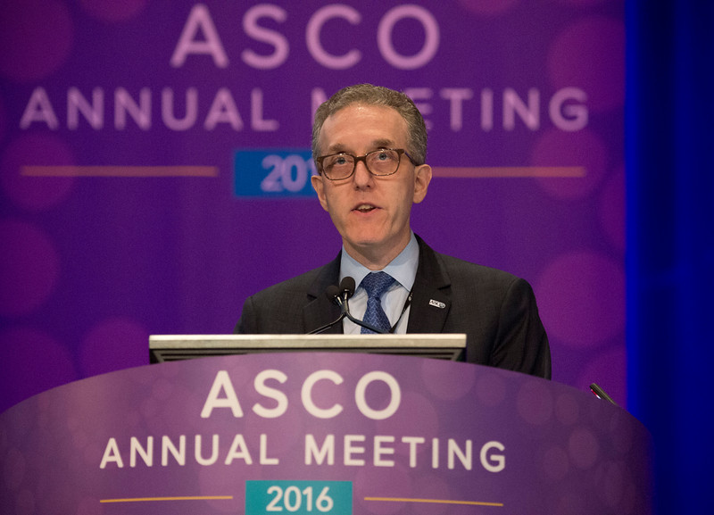 Jedd D. Wolchok, MD, PhD, presents Abstract 9505 during Melanoma/Skin Cancers Oral Abstract Session