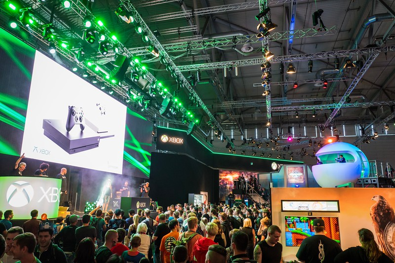 Xbox booth at Gamescom 2017