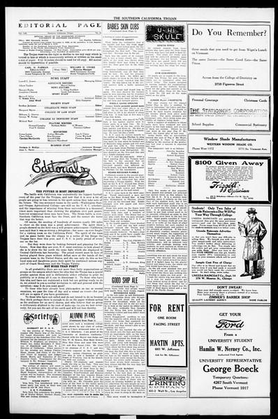 The Southern California Trojan, Vol. 13, No. 18, November 09, 1921