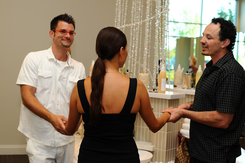 Gallery of photos mixer with WPLV Wedding Professionals of Las Vegas at Eleven Spa Vegas located in Town Center. Martini, cocktails and shots provided by iS Vodka.