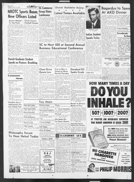 Daily Trojan, Vol. 43, No. 36, November 06, 1951