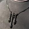 1.63ctw Victorian Triple Drop Diamond Necklace 13