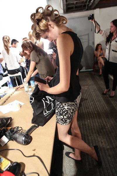 NEW YORK, NY - SEPTEMBER 07:  A general view of the atmosphere backstage at the Billy Reid spring 2013 fashion show during Mercedes-Benz Fashion Week at Eyebeam on September 7, 2012 in New York City.  (Photo by Chelsea Lauren/Getty Images)
