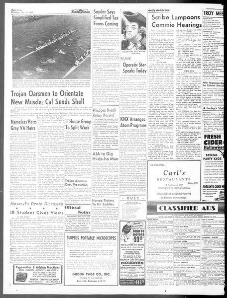 Daily Trojan, Vol. 40, No. 32, October 26, 1948