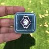 2.27ct (est) Art Deco Old European Cut Diamond with Amethyst Halo Ring 29