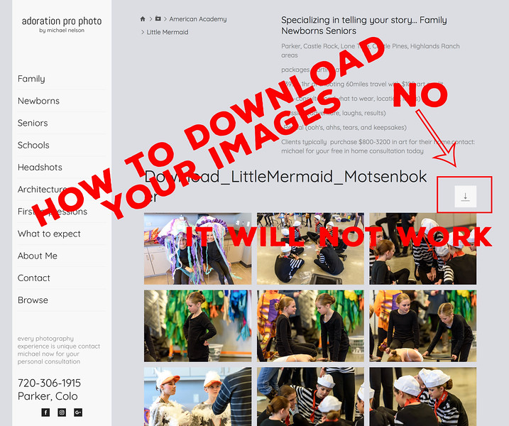 Incorrect way to download images