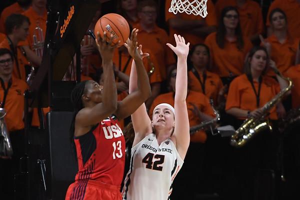 Team USA vs Oregon State College Womens Basketball