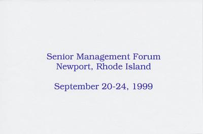 Gillette's 1999 Sr Management Forum at Newport RI