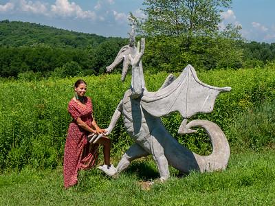 Darya at Taconic Sculpture Gallery